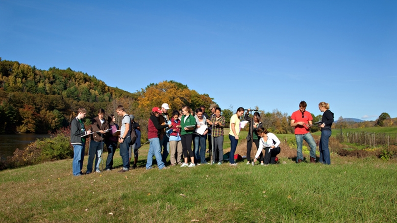 Students at Dartmouth Organic Farm